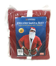 Deluxe Santa Suit Father Christmas Xmas Fancy Dress Costume Outfit