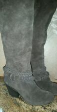 Sole Society Vera Brown Suede Ankle Belt Heeled Boot Sz 8