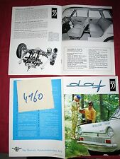 N°4160 /  DAF 33 : catalogue en français  salon 1967