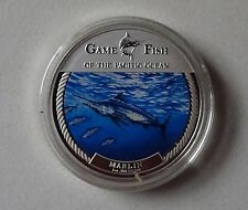2009 MARLIN GAME FISH Pacific Ocean 1 Oz.999 Fine Silver Coin $2 Fiji in box/COA