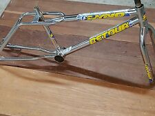 "chrome 20"" dyno frame fork old bmx freestyle bike 92 performer compe gt cw hutch"