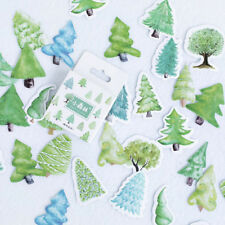 1 Box Little Forest Trees Adhesive Paper Stickers Scrapbooking Diary Planner Hot