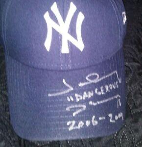 NY Yankees 09 W.S. Champ Johnny Damon Auto w/ Multi inscriptions New Era Hat