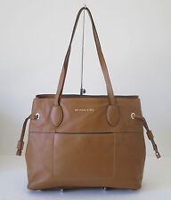 Michael Kors Mae Large Acorn Leather Drawstrings Tote Shoulder Handbag