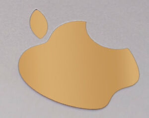 """Gold Color Changer Logo Overlay for the new Apple Retina 12"""" Macbook Sticker"""