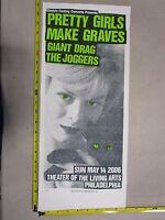 2006 Rock Roll Concert Poster Pretty Girls Make Graves Print Mafia S/N LE #80