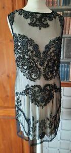 Uk size 14 (small). Miss Selfridge Sequin dress. Gatsby/1920's