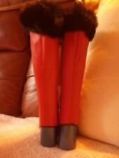Vintage Fashion Leg Warmers Gaiters Over Boots , Real Fur Tops Medium