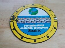 Autocollant SEALINK / OOSTENDE-DOVER / OOSTENDE-FOLKESTONE