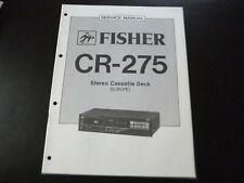 Original Service Manual Schaltplan Fisher CR-275