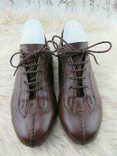 Women's Fitzwell Brown Leather Oxford Lace Shoes Size 8.5 M