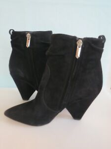 "SAM EDELMAN ""Roden"" New w/o Tags Black SUEDE ANKLE Bootie BOOTS Sz 8M Side Zip"