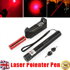 1mw 303 Green Pointer Laser Pen Adjustable Focus 532nm Powerful Safety Key