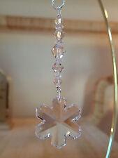 =^..^= Snowflake Ornament made with 35mm Swarovski Crystal #8811/6704 LOGO 15D