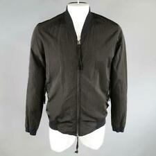 SILENT by DAMIR DOMA Size 38 Black Crepe Poly Bomber Jacket