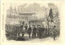 1870 King Of Holland Laying Foundation Stone Amsterdam Ship Canal Locks