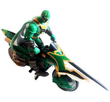Power Rangers Mystic Force GREEN RANGER figure on Bike & missile