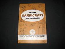Scout Handicraft Materials catalog, 1960s