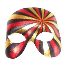 Black Gold Red Masquerade Mask Psycho Metallic Party New Years Eve Accessory
