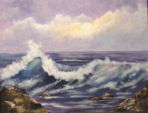 "Big wave seascape  print reproduction print 10 x 12"""