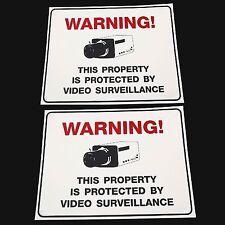 LOT OUTDOOR U/V SURVIELLANCE HOME SECURITY CCTV VIDEO CAMERAS WARNING SIGN