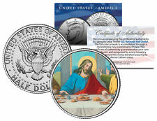 JESUS CHRIST * LAST SUPPER * JFK Kennedy Half Dollar US Colorized Coin Religious