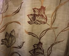EMBROIDERED CURTAIN FABRIC Prestigious GARDINIA ANTIQUE Large Remnant 1.08m