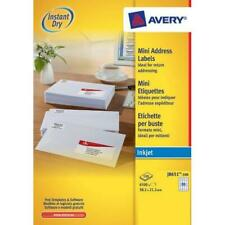 Avery J8651-100 Mini Organising/Return Address Labels A4 Sheets of 38.1 x 21.2 -