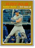 Hunter Dozier 2020 Topps Heritage 5x7 Gold #487 /10 Royals