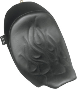 Danny Gray Black Leather Speedcradle Flame Solo Seat for 08-19 Harley Touring