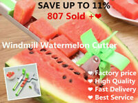 Watermelon Slicer Windmill Fruit Melon Stainless Steel Kitchen Tool