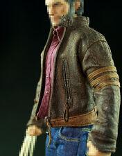 Custom 1/6 Leather Jacket & Jeans Suit Set FOR Hot Toys Wolverine Hugh Jackman