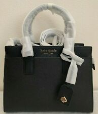 NWT KATE SPADE Cameron Medium Satchel Bag $399 Black wkru6426 Original Pa