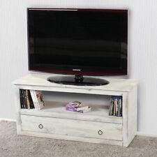 TV-Rack Fernsehtisch Lowboard TV-Regal, Shabby-Look, Vintage braun weiß grau