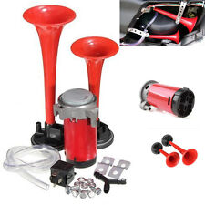 12V 135 DB Super-Loud Dual Air Horn Kit Trumpet Freight Train Car Truck Boat RV