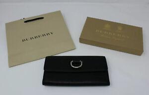 BURBERRY London Portemonnaie Damen Clutch Geldbörse Leder Continental ❤️❤️