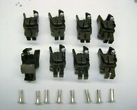 8 Repro American Flyer Universal Knuckle Couplers + 8 Split Installation Rivets