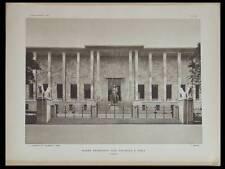 L'ARCHITECTE 1931 PARIS PALAIS PORTE DOREE, KIEL ARBEITSAMT WILHELMPLATZ
