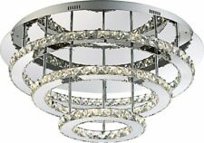 LED Deckenleuchte chrom K9 Kristalle klar 54W Globo MARILYN 67032-54 Big.Light