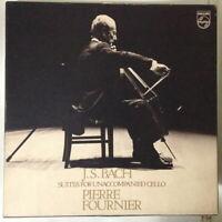 PIERRE FOURNIER - BACH - SUITES FOR UNACCOMPANIED CELLO JAPAN 3 LP