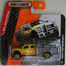 Matchbox 2013 82 of 120 Ford F550 Super Duty MBX Heroic Rescue Fire Dept