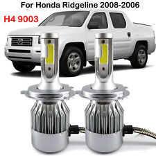 H4 9003 LED Headlight Kit Bulb For Honda Ridgeline2008-2006 Hi/Lo Beam Play Plug