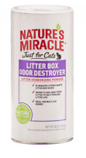 Natures Miracle Just For Cats Litter Box Odor Destroyer - Deodorizing Powder!