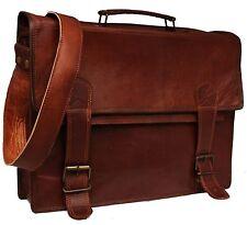 Men's Leather Genuine Brown New Messenger Laptop Shoulder Bag Satchel Handbags