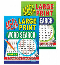 MEGA Large Print Word Search Puzzles - Book 3 and Book 4