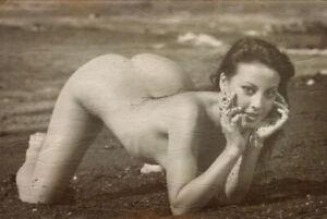 Retro Risqe Pinup Sexy vintage Antique Rare Woman Photo 4x6 K