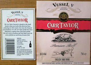 Etiquettes vin UNITED KINGDOM CARR TAYLOR VESSEL V  English Table Wine Labels