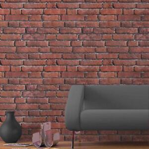 Koziel Textured Brick Effect Wallpaper | Red