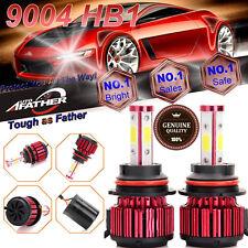 9004 HB1 9007 240W LED Headlight 4-Side Car Kit 6000K White Hi/Lo Beams 24000LM