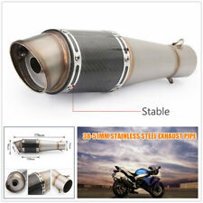 Motorcycle Large Displacement Dia.51mm Inclined Tailpipe S.S Steel Exhaust Pipe